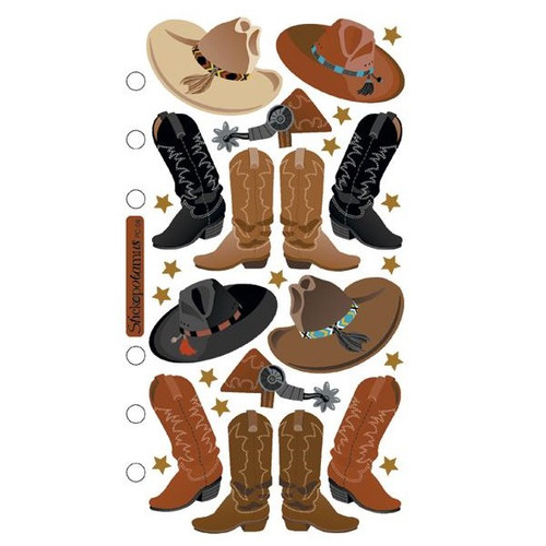 Sticko Flat Stickers: Cowboy Hats & Boots
