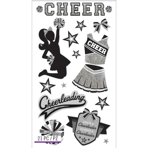 Sticko Dimensional Stickers: Cheerleading