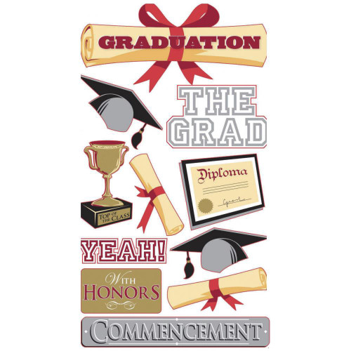 Sticko Dimensional Stickers: The Grad