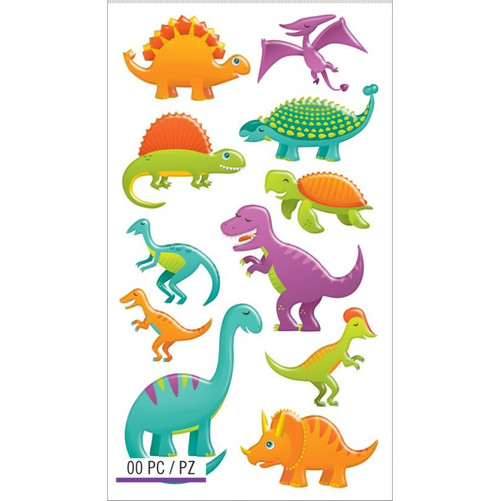Sticko Puffy Stickers: Dinosaurs