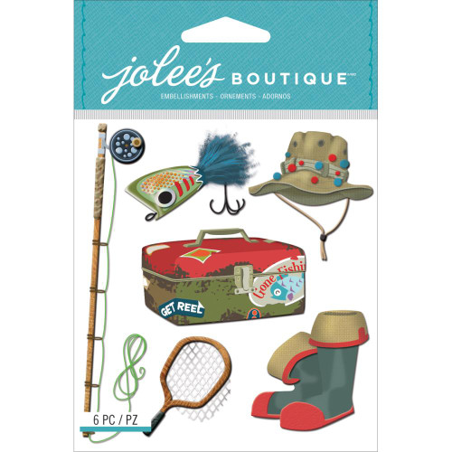Jolee's Boutique Dimensional Stickers: Fishing