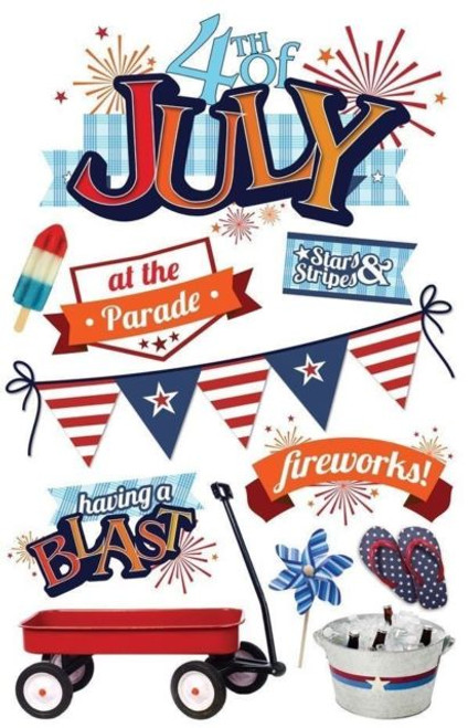 Paper House Productions 3D Stickers: 4th of July