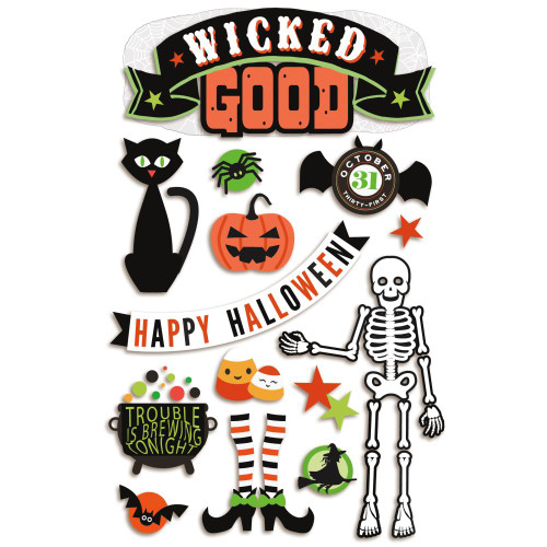 Paper House Productions 3D Stickers: Wicked Good