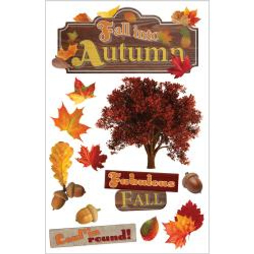Paper House Productions 3D Stickers: Fall Into Autumn