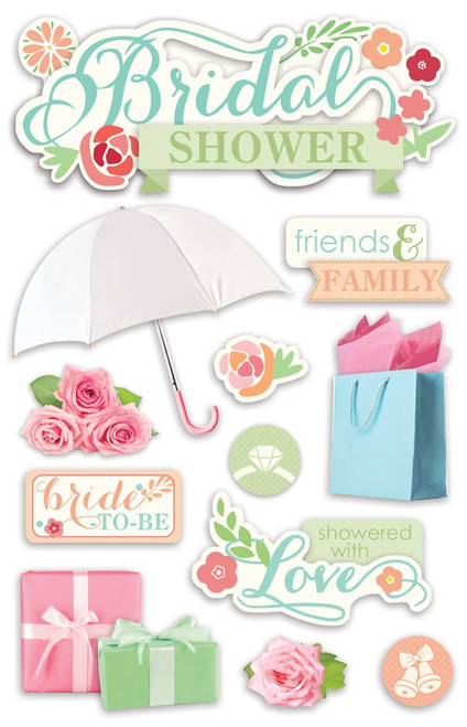 Paper House Productions 3D Stickers: Bridal Shower