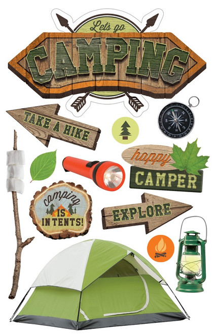 Paper House Productions 3D Stickers: Let's Go Camping