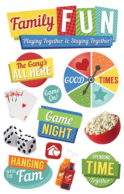 Paper House Productions 3D Stickers: Family Fun