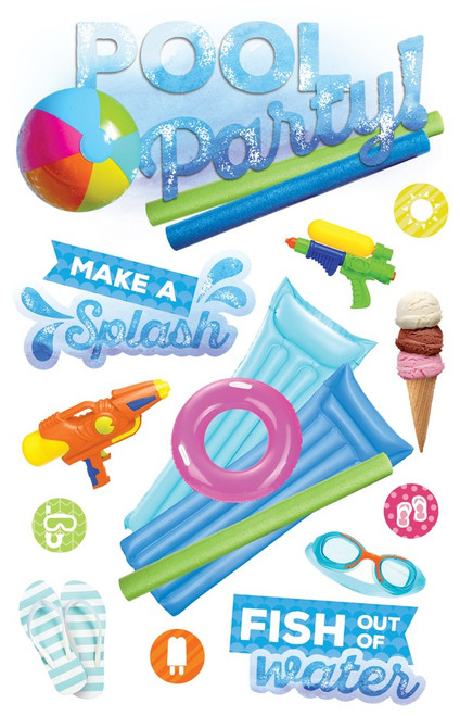 Paper House Productions 3D Stickers: Pool Party