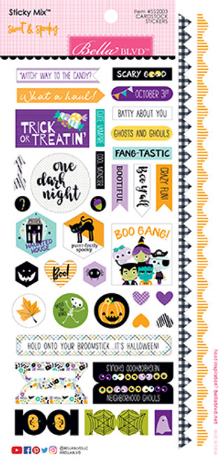 Bella Blvd Sweet & Spooky Sticky Mix Cardstock Stickers