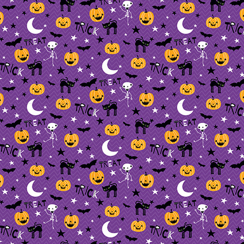Bella Blvd Sweet & Spooky 12x12 Paper: Midnight Jive