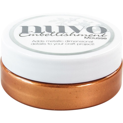 Tonic Studios Nuvo Embellishment Mousse: Fresh Copper