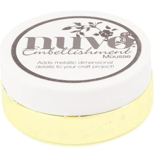 Nuvo Embellishment Mousse: Custard Cream