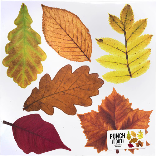 American Crafts 12x12 Punch It Out! Diecut Paper: Leaves