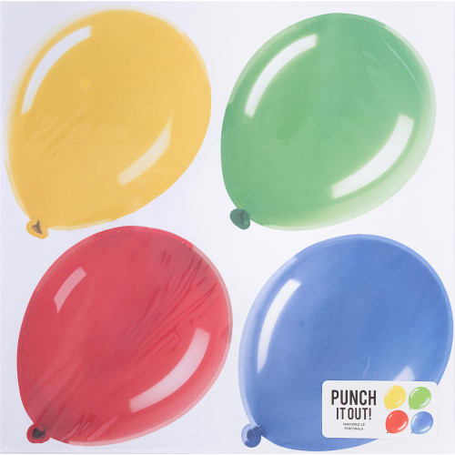 American Crafts 12x12 Punch It Out! Diecut Paper: Balloons