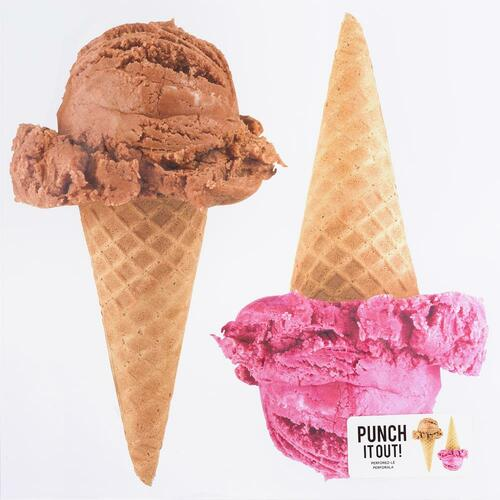 American Crafts 12x12 Punch It Out! Diecut Paper: Ice Cream Cones