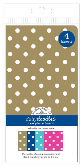 Doodlebug Daily Doodles Travel Planner Inserts: Adorable Dots Assortment