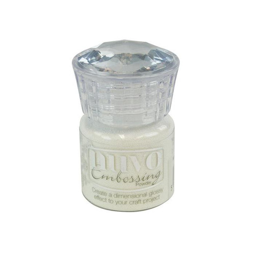 Nuvo Embossing Powder: Glacier White