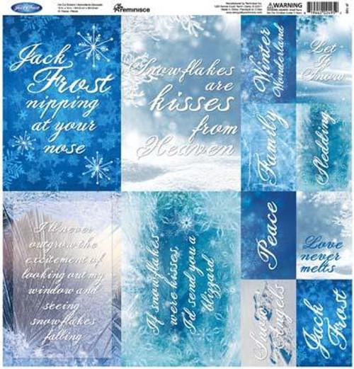 Reminisce Jack Frost 12x12 Poster Sticker