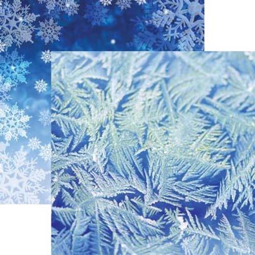 Reminisce Jack Frost 12x12 Paper: Blue Frost