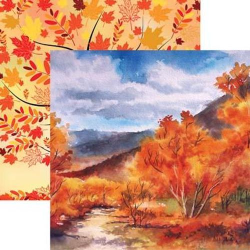 Reminisce Autumn Splendor 12x12 Paper: Autumn Leaves