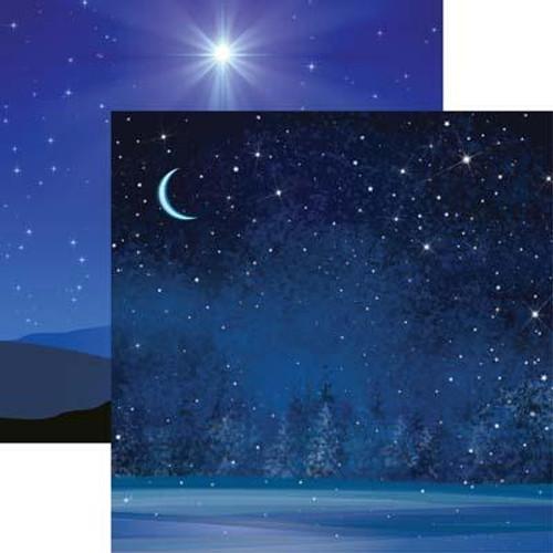 Reminisce Winter Wonderland 12x12 Paper: Swirl Tree