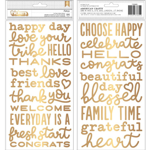 American Crafts Thickers: KATHRINE | Gold Foam