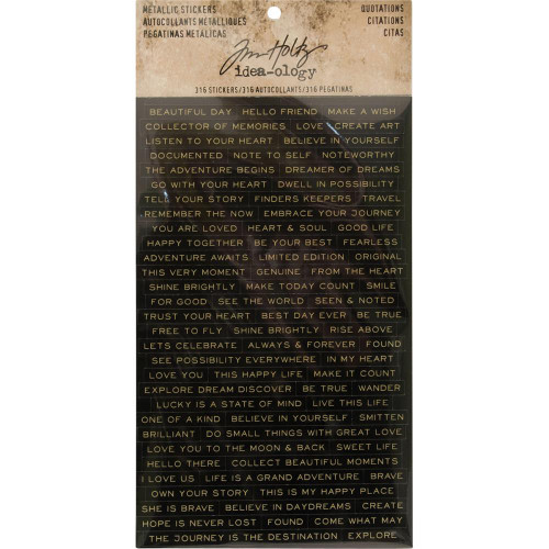 Tim Holtz Idea-Ology: Metallic Stickers - Quotations