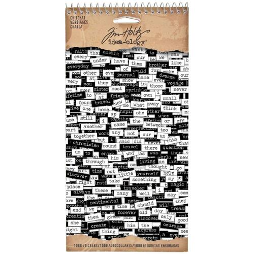 Tim Holtz Idea-Ology: Sticker Books - Chitchat