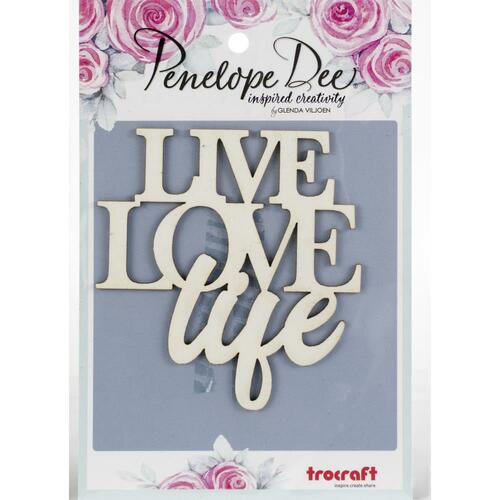 CLEARANCE | Penelope Dee Photogenic Paperboard Shapes: Live Love Life