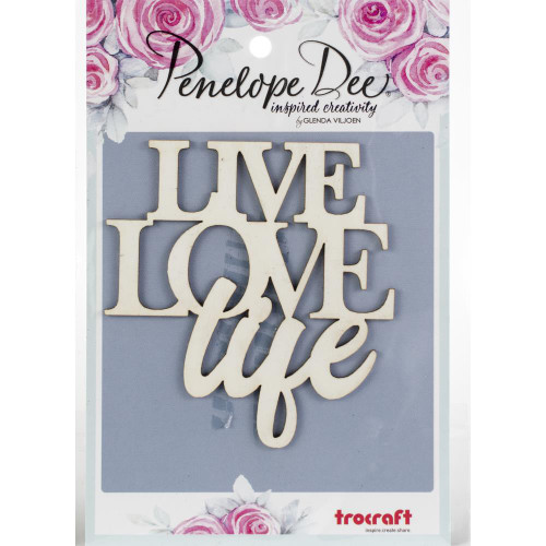 Penelope Dee Photogenic Paperboard Shapes: Live Love Life