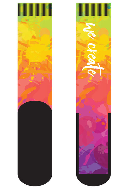 "We Create 18"" Dye Sublimated Socks"