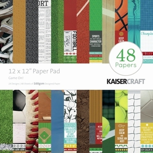 KaiserCraft Game On! 12x12 Paper Pad (48 sheets)