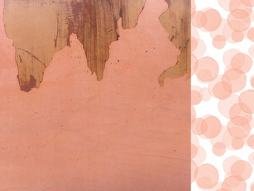 KaiserCraft Peachy 12x12 Paper: Burnt Sienna