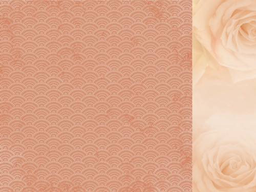KaiserCraft Peachy 12x12 Paper: Golden