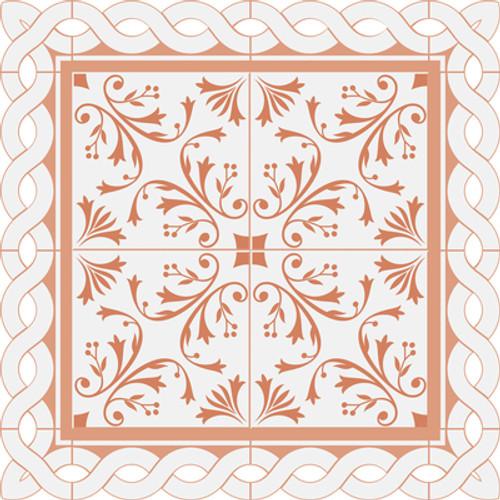KaiserCraft Peachy 12x12 Diecut Paper: Ceramic