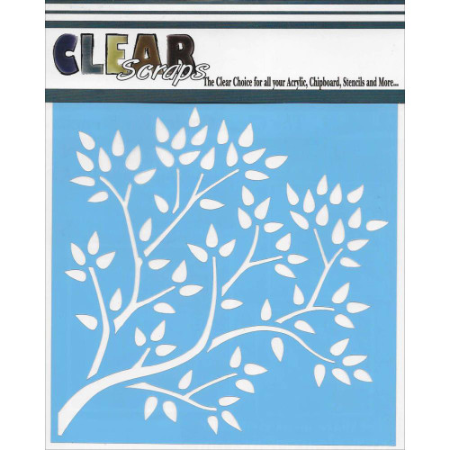 ClearScraps 6x6 Stencil: Tree Branch