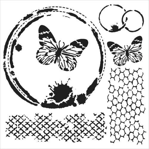Crafter's Workshop 6x6 Template: Mini Butterfly Collage