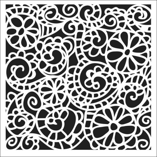 Crafter's Workshop 12x12 Template: Swirly Garden