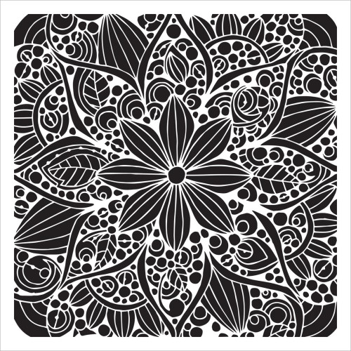 Crafter's Workshop 12x12 Template: Doodle Bloom