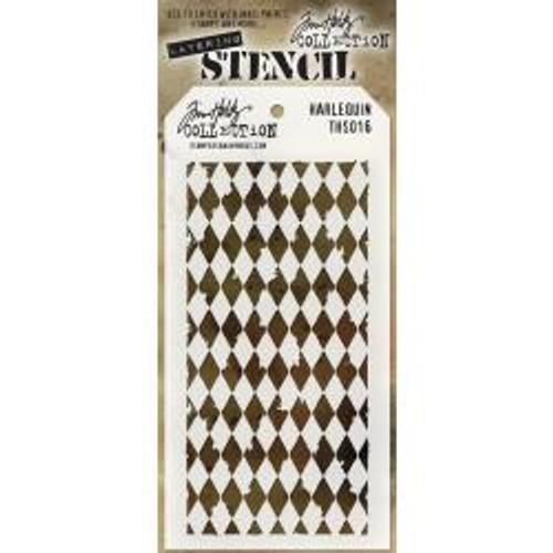 Tim Holtz Layering Stencil: Harlequin