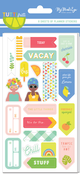 My Mind's Eye Tutti Frutti Planner Sticker Set