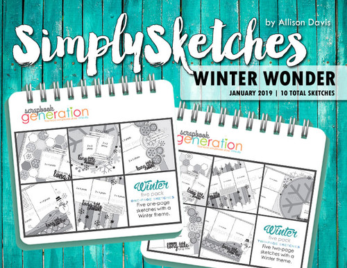 Simply Sketches Ebook: January 2019 | Winter Wonder