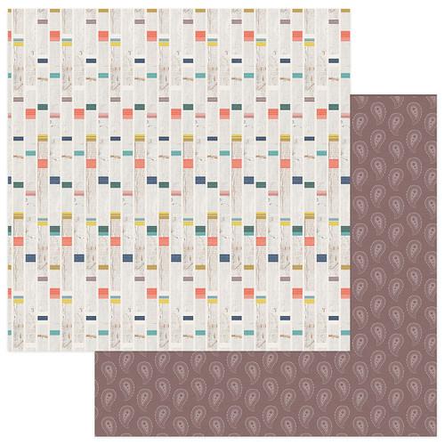 PhotoPlay Free Bird 12x12 Paper: Eye Wild Child Stripe