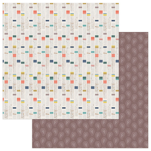 PhotoPlay Free Bird 12x12 Paper: Eye Wild Child Stripe