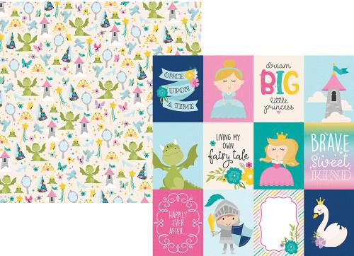 Simple Stories Little Princess 12x12 Paper: 3x4 Elements