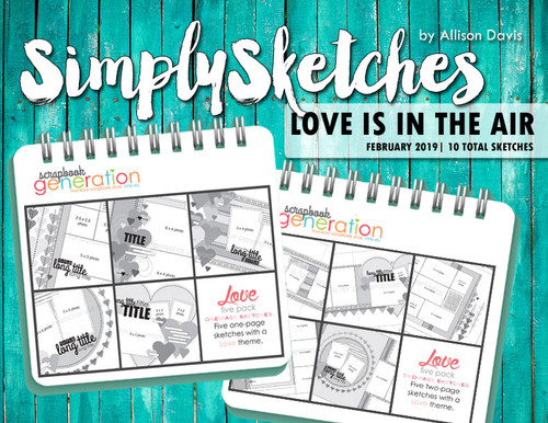 Simply Sketches Ebook: February 2019 | Love is in the Air