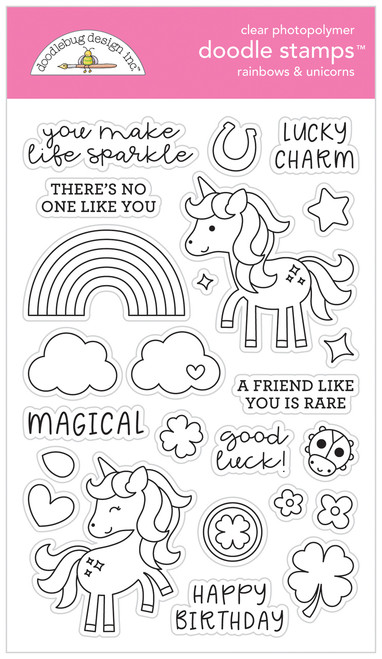 Doodlebug Doodle Stamps: Rainbows & Unicorns