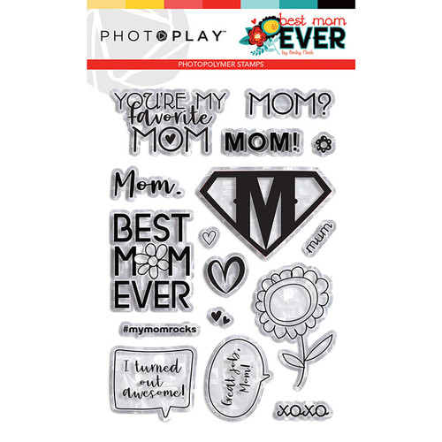 PhotoPlay Best Mom Ever Stamp Element