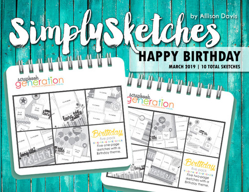 Simply Sketches Ebook: March 2019 | Happy Birthday