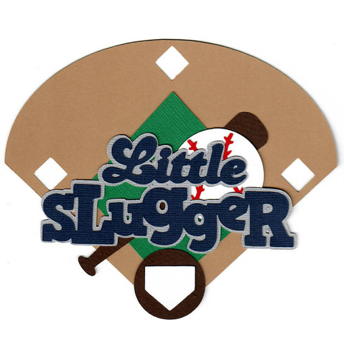 Scrapbooks From The Heart Diecut Title: Little Slugger